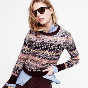 🆕 NWT ✨ J. Crew Sequin Fair Isle sweater